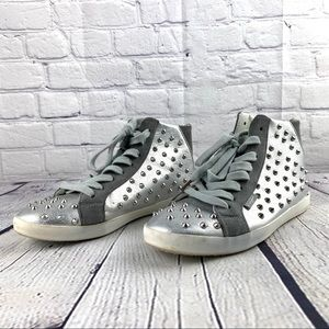 Sugar silver studded sneakers size7.5